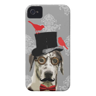 Perro divertido del steampunk iPhone 4 Case-Mate protector