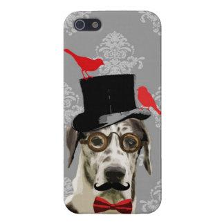 Perro divertido del steampunk iPhone 5 carcasas