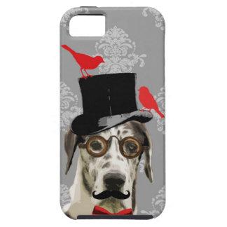 Perro divertido del steampunk iPhone 5 fundas