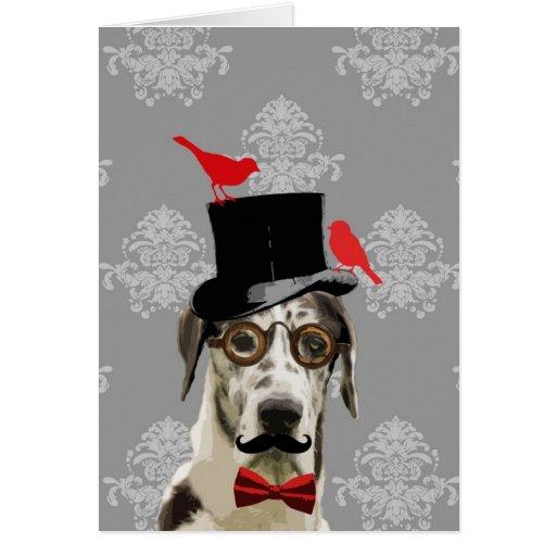 Perro divertido del steampunk tarjetas