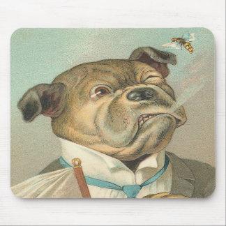Perro divertido del vintage alfombrilla de raton