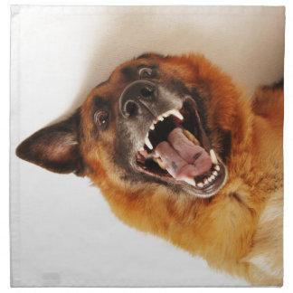Perro divertido loco servilleta imprimida