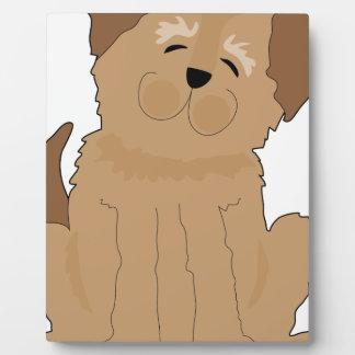 Perro divertido placas de madera