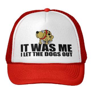 Perro divertido que decía, era yo gorras de camionero