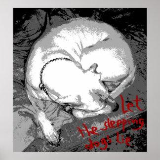 Perro el dormir (poster) póster