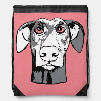 Perro el mirar fijamente mochilas