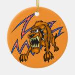 Perro electrificado adornos de navidad