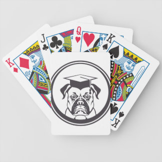 Perro elegante baraja cartas de poker