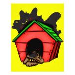 Perro en casa de perro flyer personalizado