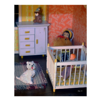Perro en Dollhouse Impresiones