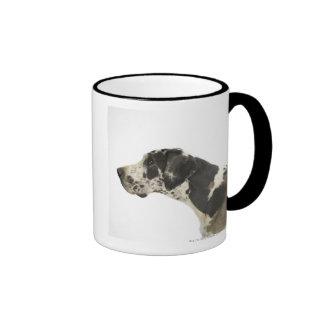 Perro en el blanco 11 taza de dos colores