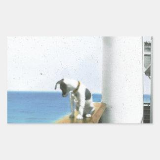 Perro en el buque de vapor rectangular altavoces