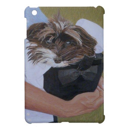 Perro en gorra en Horseshow iPad Mini Cárcasas