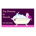 Perro en la bañera - Groomer del mascota Tarjetas Personales
