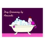 Perro en la bañera - Groomer del mascota Tarjetas De Negocios