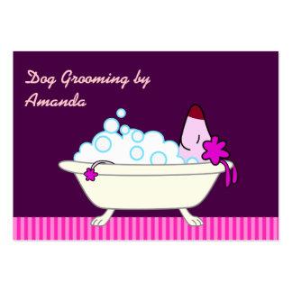 Perro en la bañera - Groomer del mascota Tarjetas De Visita Grandes