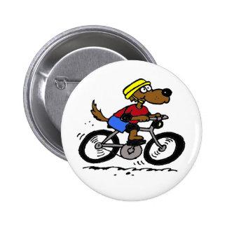 ¡Perro en la bici! Pin Redondo 5 Cm