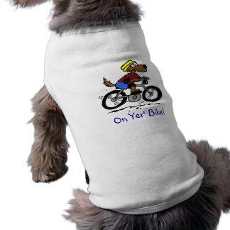 ¡Perro en la bici! Playera Sin Mangas Para Perro