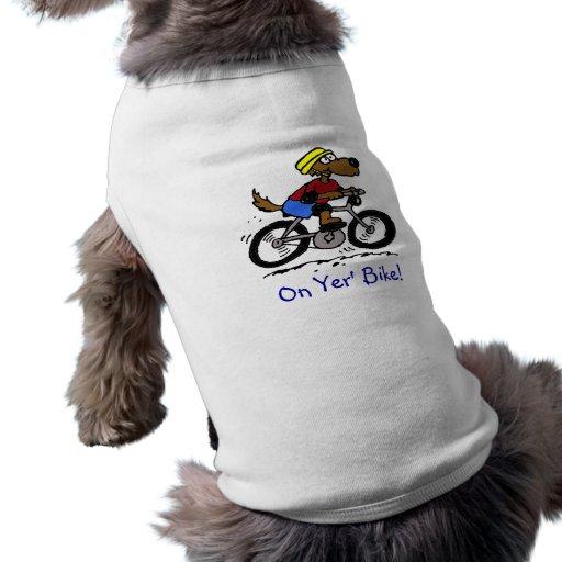¡Perro en la bici! Ropa De Perro