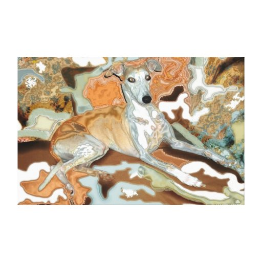 Perro en la impresión Sofá-Estirada de la lona Lona Envuelta Para Galerias