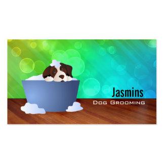Perro en tarjetas de visita del baño