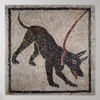 Perro en un correo, de Pompeya Póster