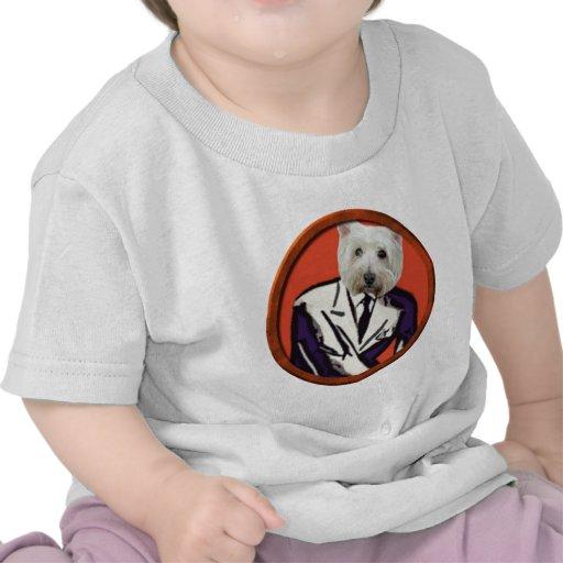 Perro en un juego camisetas