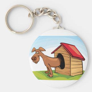 Perro en un llavero de la casa de perro