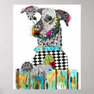 Perro en un poster (usted puede modificar para