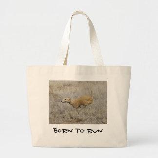 Perro en una misión bolsa tela grande