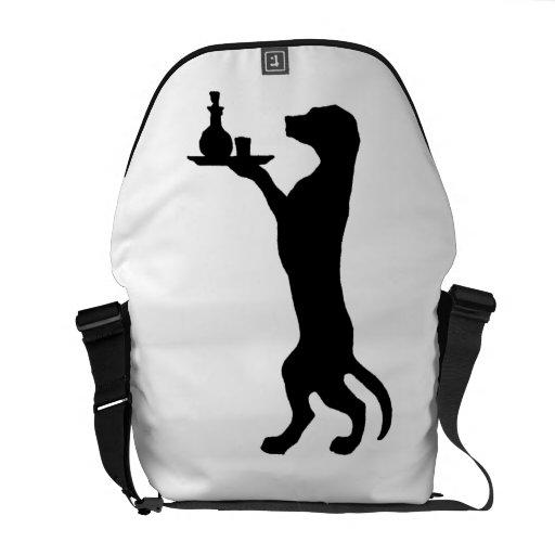 Perro entrenado bolsa de mensajería