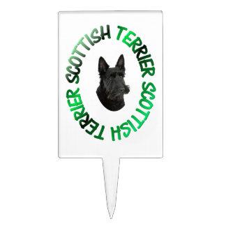 perro escocés del terrier figuras de tarta