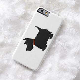 Perro escocés del terrier, silueta del negro del funda barely there iPhone 6