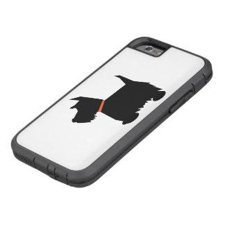 Perro escocés del terrier, silueta negra del funda tough xtreme iPhone 6