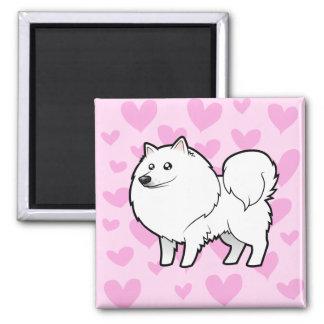Perro esquimal americano/amor alemán del perro de  imán para frigorífico