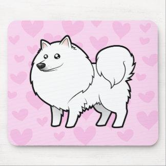 Perro esquimal americano/amor alemán del perro de mouse pads