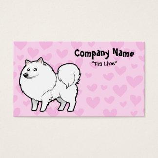 Perro esquimal americano/amor alemán del perro de tarjetas de visita
