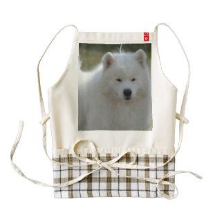 Perro esquimal americano blanco mullido delantal zazzle HEART