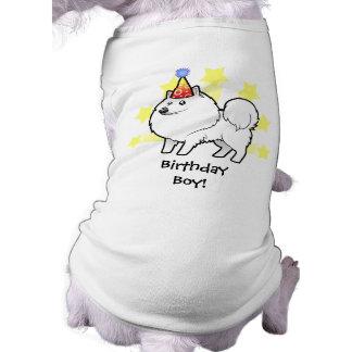 Perro esquimal americano del cumpleaños/perro de playera sin mangas para perro