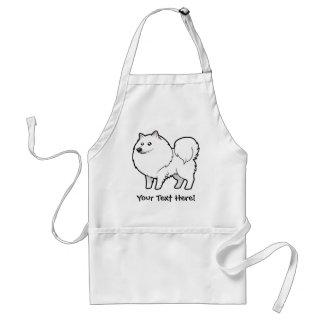 Perro esquimal americano del dibujo animado/perro delantal