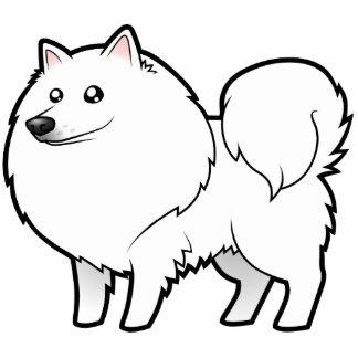 Perro esquimal americano del dibujo animado/perro  esculturas fotograficas