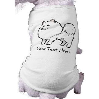 Perro esquimal americano del dibujo animado/perro playera sin mangas para perro