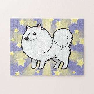 Perro esquimal americano del dibujo animado/perro puzzles con fotos