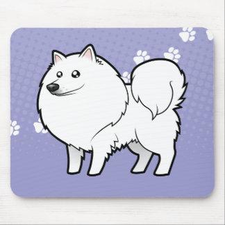 Perro esquimal americano del dibujo animado/perro tapete de raton