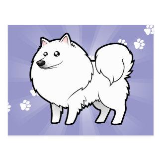 Perro esquimal americano del dibujo animado/perro postales