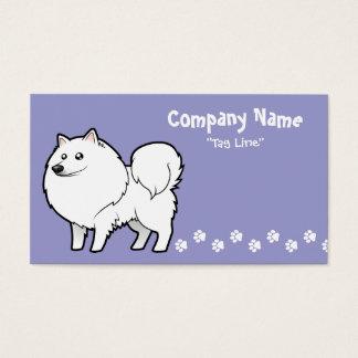 Perro esquimal americano del dibujo animado/perro tarjetas de visita