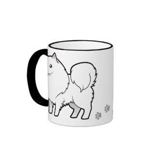 Perro esquimal americano del dibujo animado/perro taza a dos colores