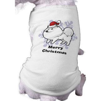 Perro esquimal americano del navidad/perro de playera sin mangas para perro