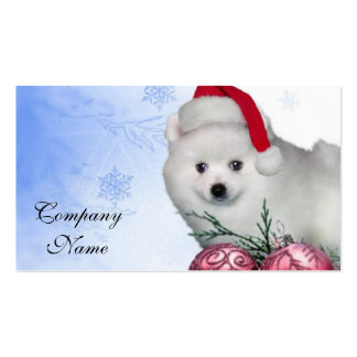 Perro esquimal americano del navidad tarjetas de visita