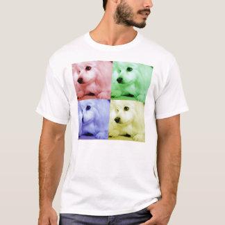 Perro esquimal americano/Eskie en color Playera